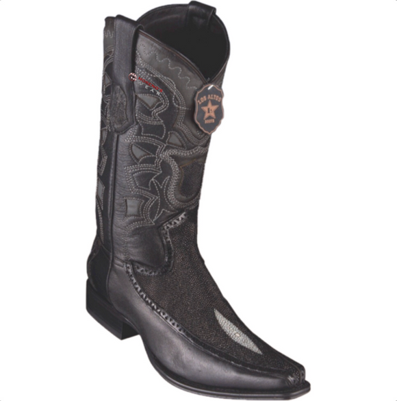 Men's Los Altos Stingray & Deer Boots European Square Toe