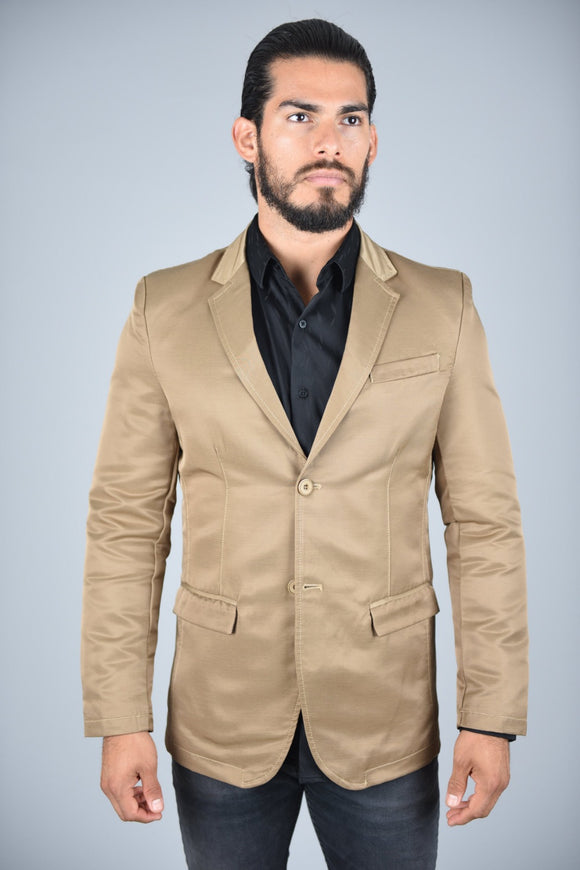 Martin Double Buttoned Shiny Casual Blazer