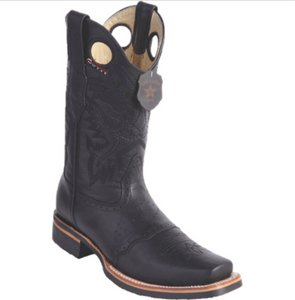 Men's Los Altos Grisly Boots With Saddle Square Toe (Rubber Sole)
