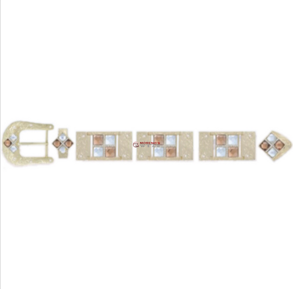 Los Altos Gold Buckle Set With 4 Stones