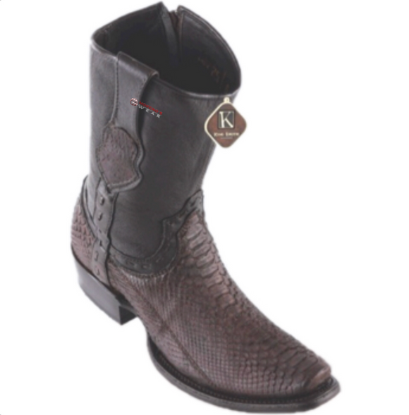 Men's King Exotic Python Ankle Boots Dubai Toe