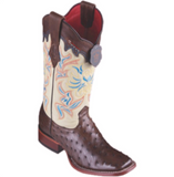 Women's Los Altos Ostrich Boots Wide Square Toe