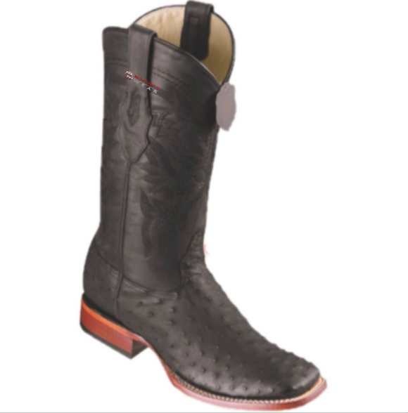 Men's Los Altos Ostrich Boots Wide Square Toe