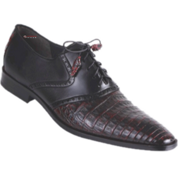 Men's Los Altos Caiman Belly With Deer Exotic Dress Shoe