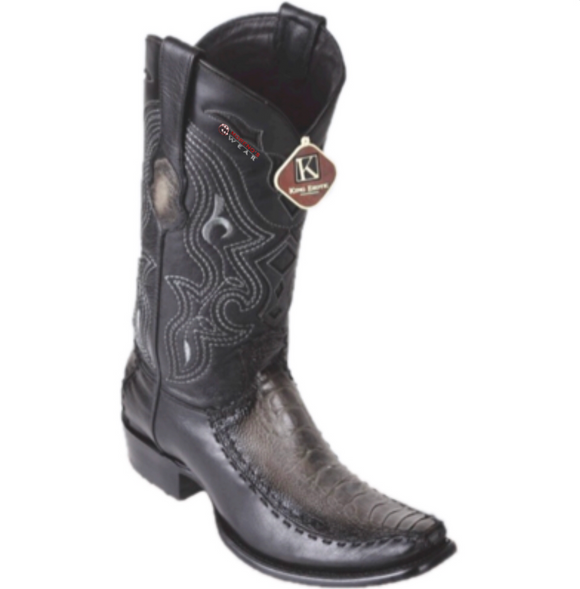 Men's King Exotic Ostrich Leg & Deer Boots Dubai Toe