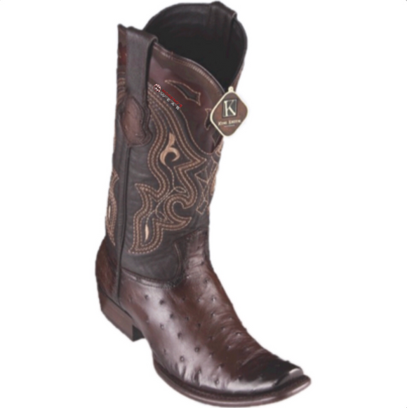 Men's King Exotic Ostrich Boots Dubai Toe