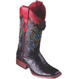 Women's Los Altos Caiman Belly Boots Wide Square Toe