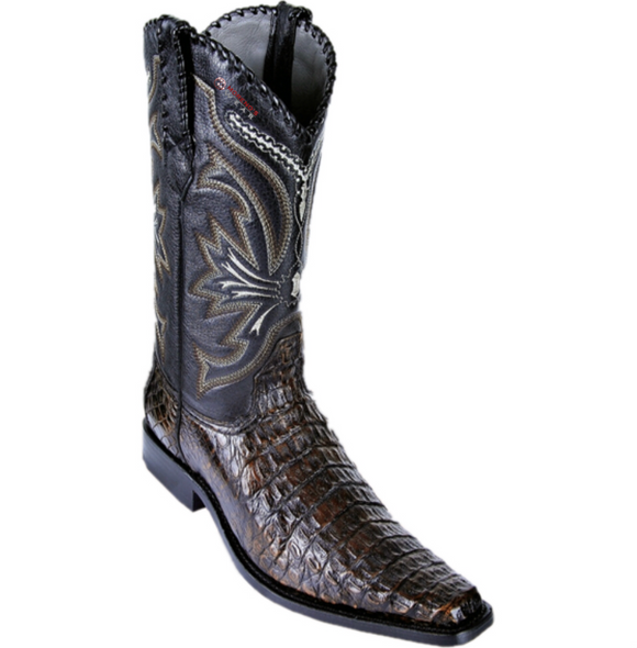 Men's Los Altos Smooth Caiman Boots Versace Square Toe