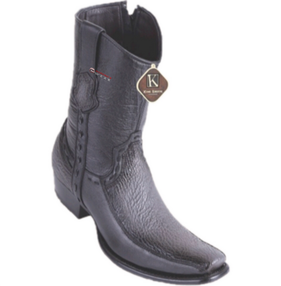 Men's King Exotic Shark & Deer Ankle Boots Dubai Toe