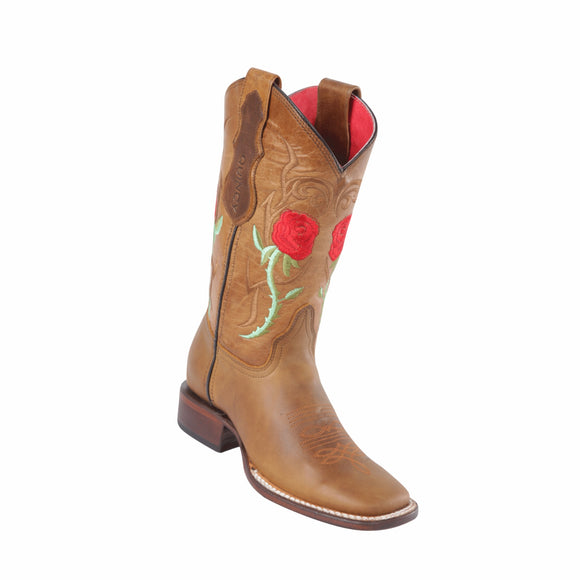 Women's Quincy Honey Rose Boots Wide Square Toe