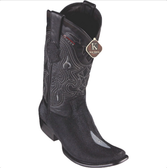 Men's King Exotic Stingray (Single Stone) Boots Dubai Toe