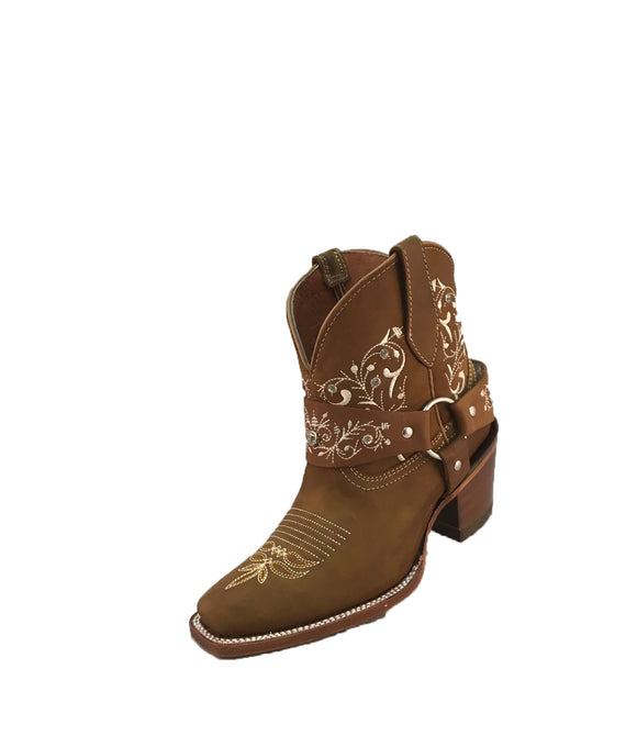 Women's Artillero Embroiderd Ankle Boots European Toe