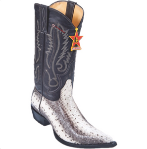 Men's Los Altos Water Snake Boots 3x Toe With Cowboy Heel
