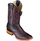 Men's Los Altos Smooth Ostrich Boots Wide Square Toe