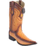 Men's Los Altos Ostrich With Deer Boots 3x Toe