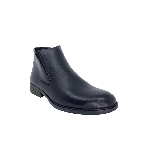 Giovanny Black Faux Leather Ankle Boots