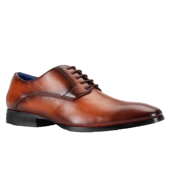 Jacob  Cognac Lace Up Dress Shoes Bonafini Collection