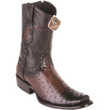Men's King Exotic Ostrich Ankle Boots Dubai Toe