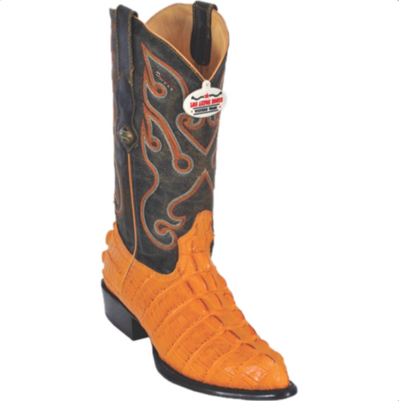 Men's Los Altos Caiman Tail Print Boots J Toe