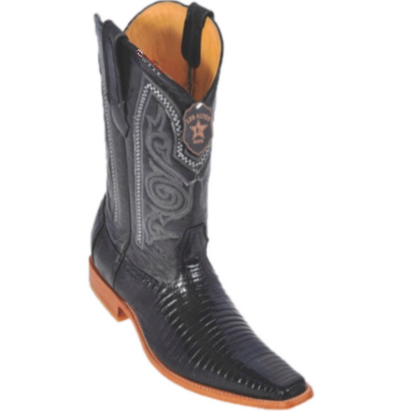 Men's Los Altos Teju Lizard Boots Versace Square Toe