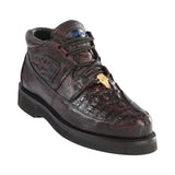 Men's Wild West Caiman With Smooth Ostrich Casual Shoes