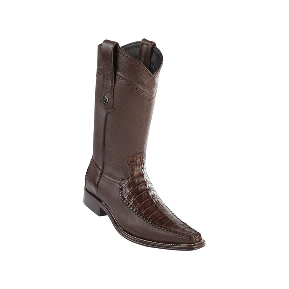 Men's Wild West Caiman Belly With Deer Boots European Square Toe