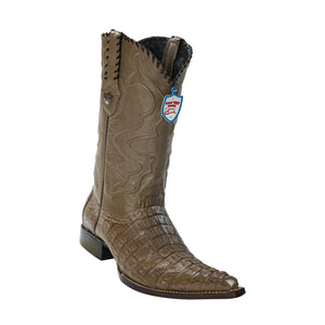 Men's Wild West Caiman Tail Boots 3x Toe