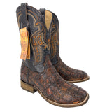 Men's Corral Honey Fuscus Patch Work Wide Square Toe