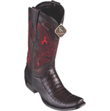 Men's King Exotic Caiman Belly With Deer Boots Dubai Toe