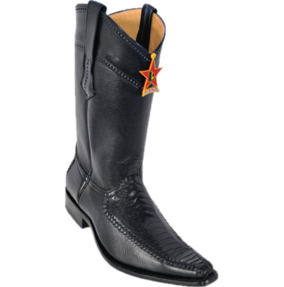 Men's Los Altos Ostrich Leg With Deer Boots Versace Square Toe