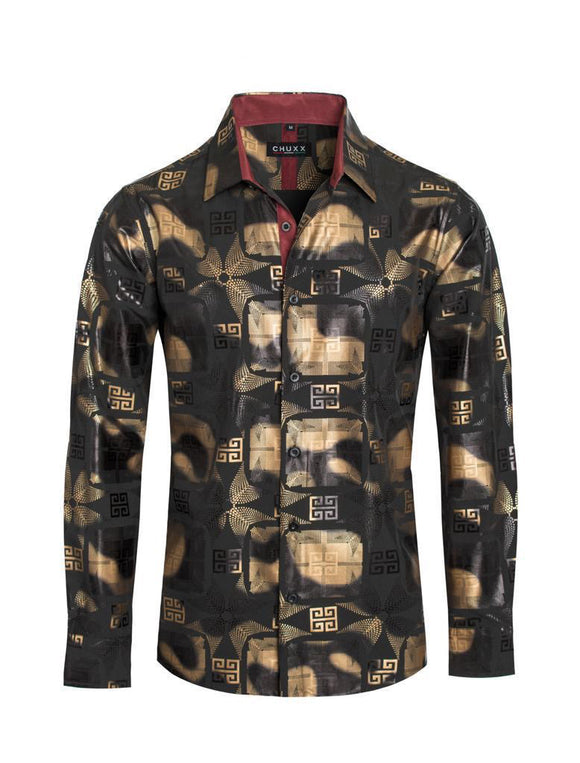David Chuxx Black Gold Foil Shirt