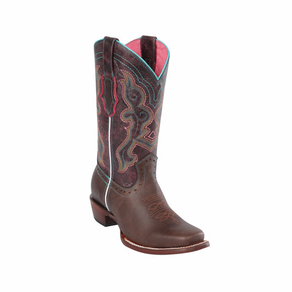 Women's Quincy Grasso Leather Boots Square Toe