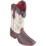 Women's Los Altos Python Boots Wide Square Toe