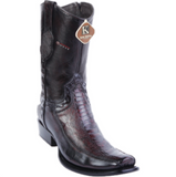 Men's King Exotic Ostrich Leg & Deer Ankle Boots Dubai Toe