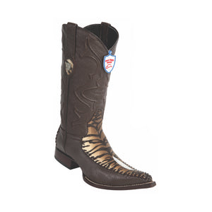 Men's Wild West Stingray Single Stone With Deer Boots 3x Toe