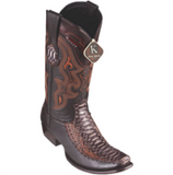 Men's King Exotic Python & Deer Boots Dubai Toe
