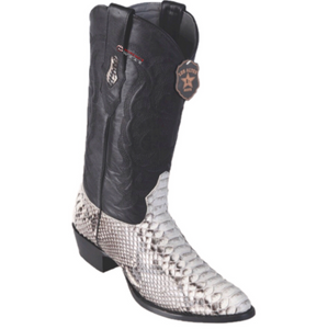 Men's Los Altos Python Boots Round Toe