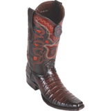 Men's Los Altos Caiman Belly Boots European Square Toe