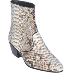 Men's Los Altos Python Ankle Boots Medium Round Toe