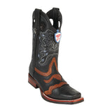 Men's Wild West Grisly Saddle With Rubber Sole Boots Square Toe