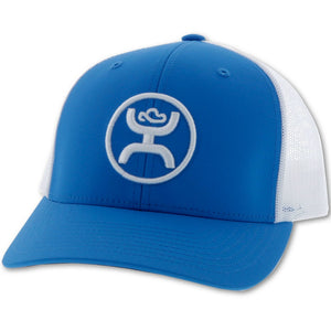 "Men's Hooey ""O Classic"" Hooey Blue / White 6-Panel Trucker with White Logo Cap"
