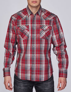 Austin Squared/Lined Western Shirt Burgundy