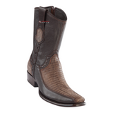 Men's Wild West Teju Lizard With Deer Ankle Boots Dubai Toe