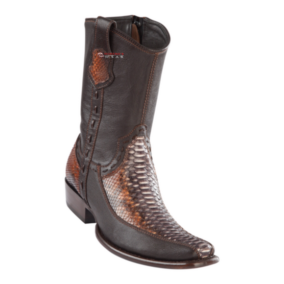 Men's Wild West Python With Deer Ankle Boots Dubai Toe