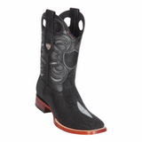 Men's Wild West Stingray Single Stone Boots Wide Square Toe