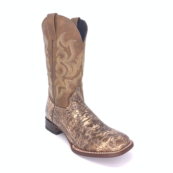 Men's Quincy Sea Turtle Print Boots Wide Square Toe