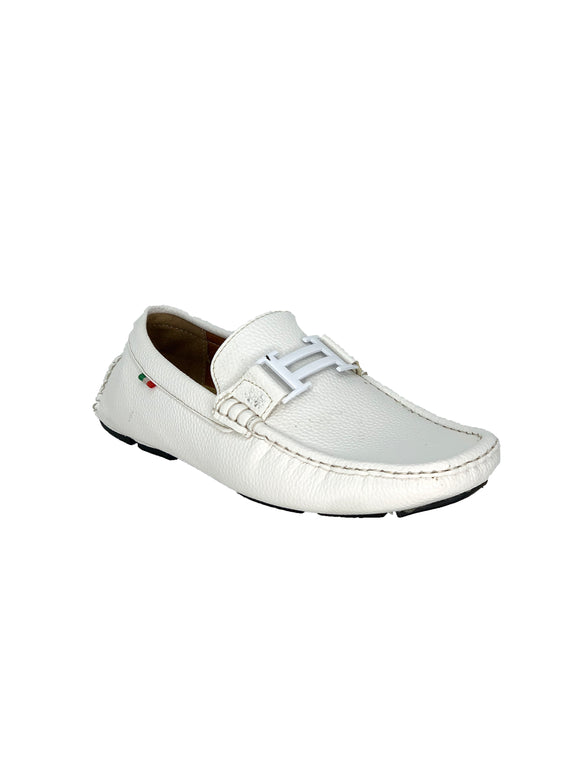White Hermes Inspired Loafers Moderno