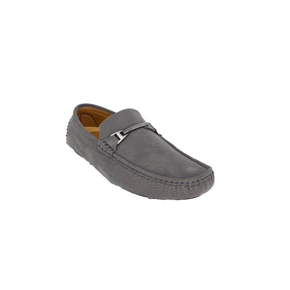 Men's Gray Suede Platini Loafers
