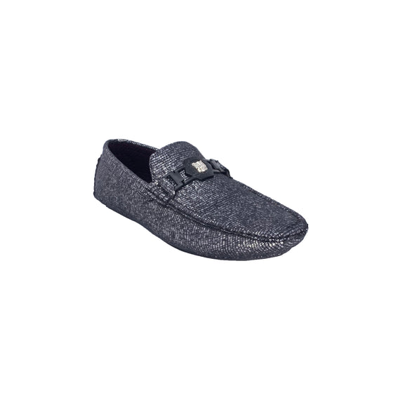 Men's Silver Black Platini Loafers