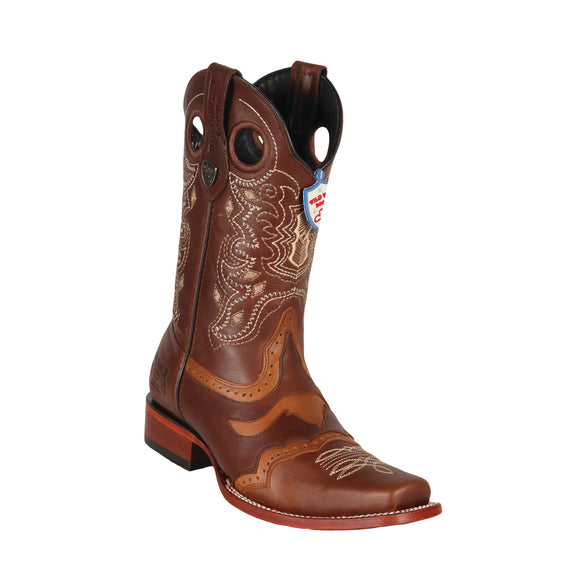 Men's Wild West PullUp Saddle Boots Square Toe